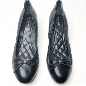 Cole Haan Black Tali Grand Bow Wedge Pumps 10.5
